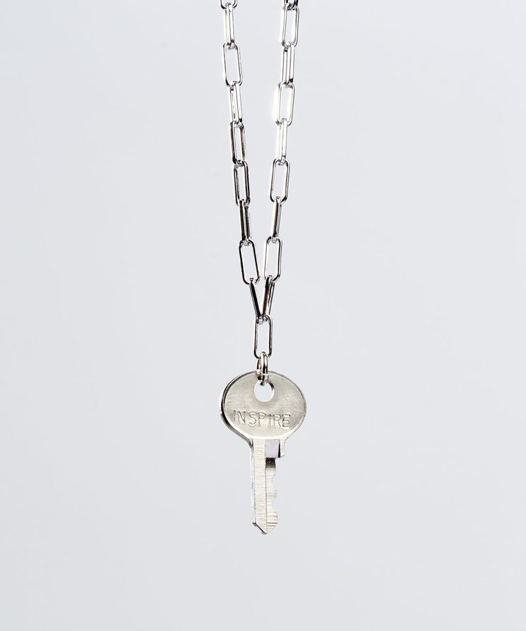 Brooklyn Dainty Key Necklace Necklaces The Giving Keys INSPIRE Silver