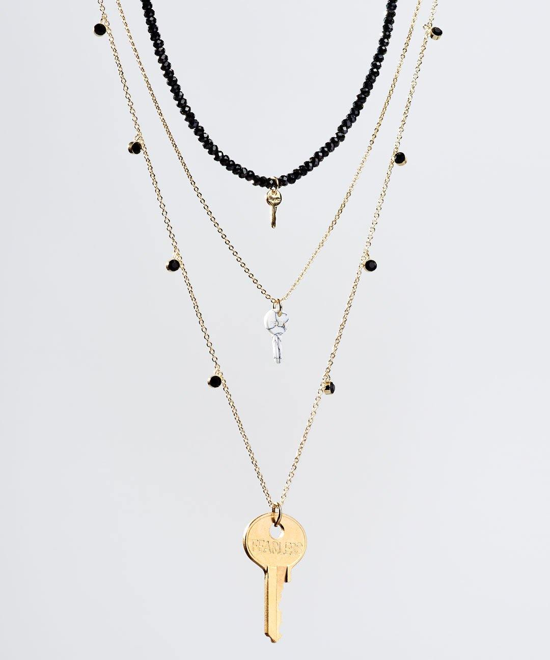 Onyx Stone Layered Necklace Set Necklaces The Giving Keys Onyx Various