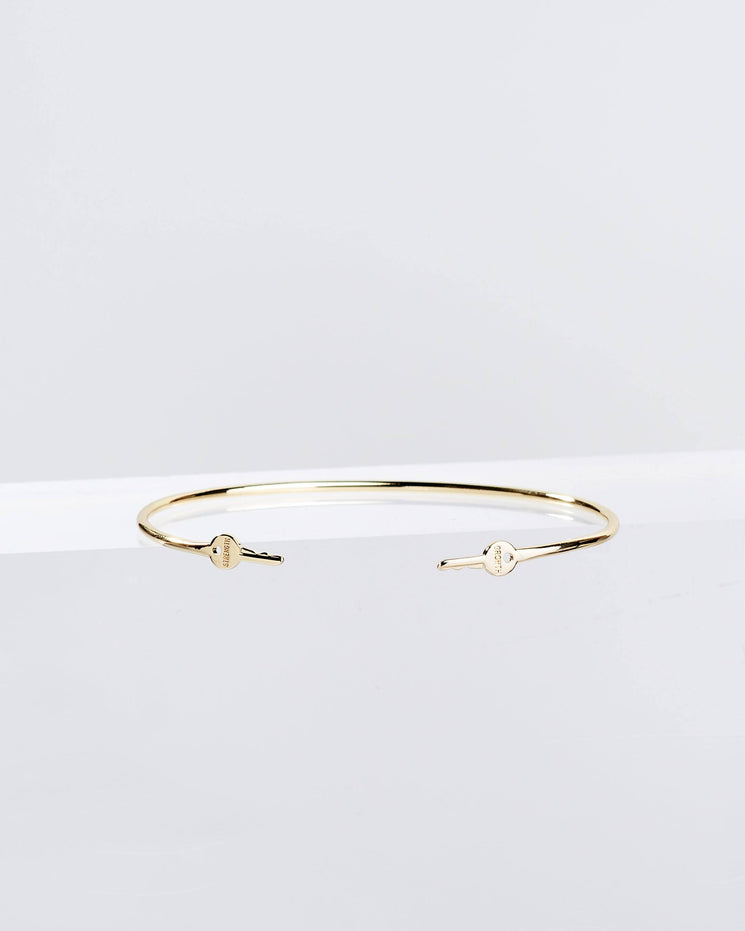 Gold Wrapped Mini Key Bangle Bracelets The Giving Keys GROWTH + STRENGTH Gold