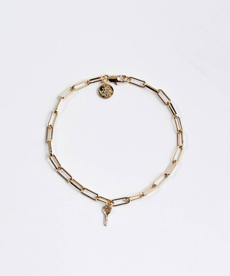 Brooklyn Mini Key Bracelet Necklaces The Giving Keys LOVE Gold