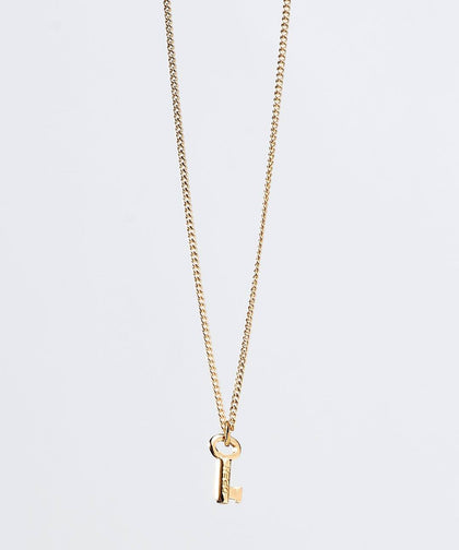 OPEN Mini Skeleton Key Necklace Necklaces The Giving Keys Gold OPEN