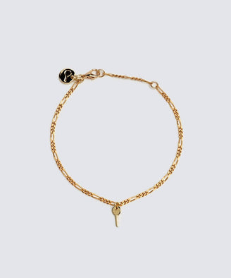Florence Mini Key Bracelet Bracelets The Giving Keys LOVE Gold