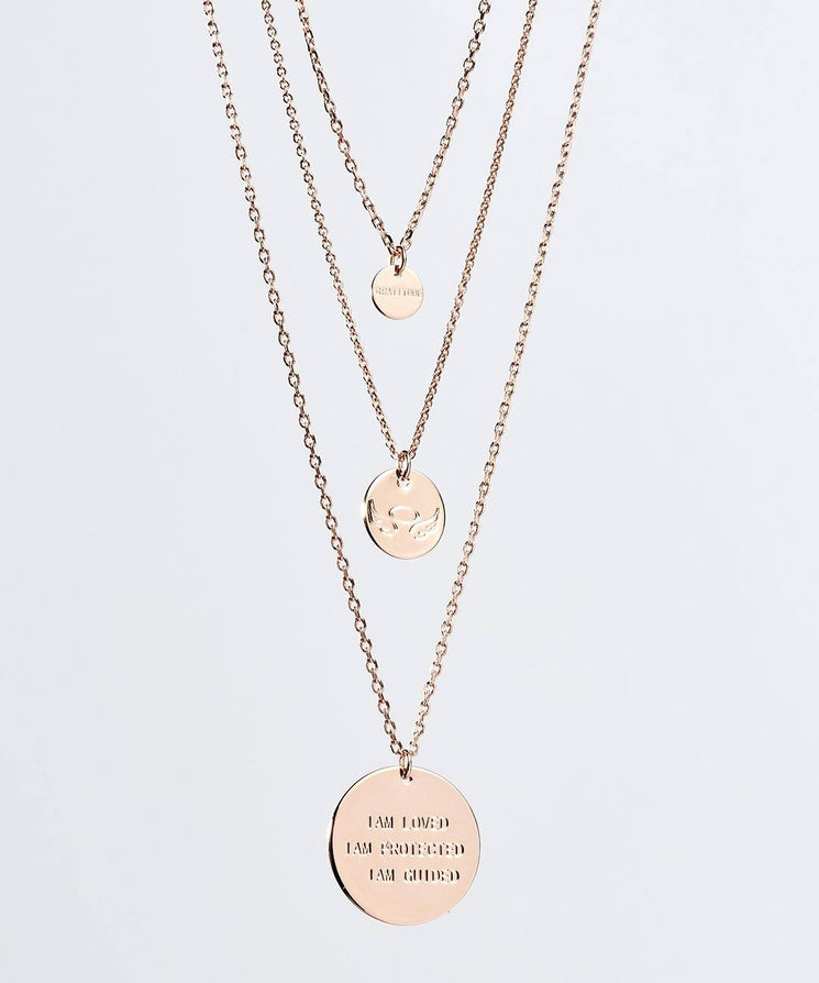 Gratitude Layered Disc Necklace