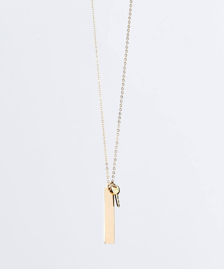 Provision Bar Pendant Necklace Necklaces The Giving Keys LOVE GOLD