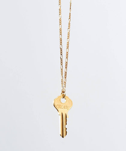 Florence Dainty Key Necklace Necklaces The Giving Keys CREATE Dainty Gold