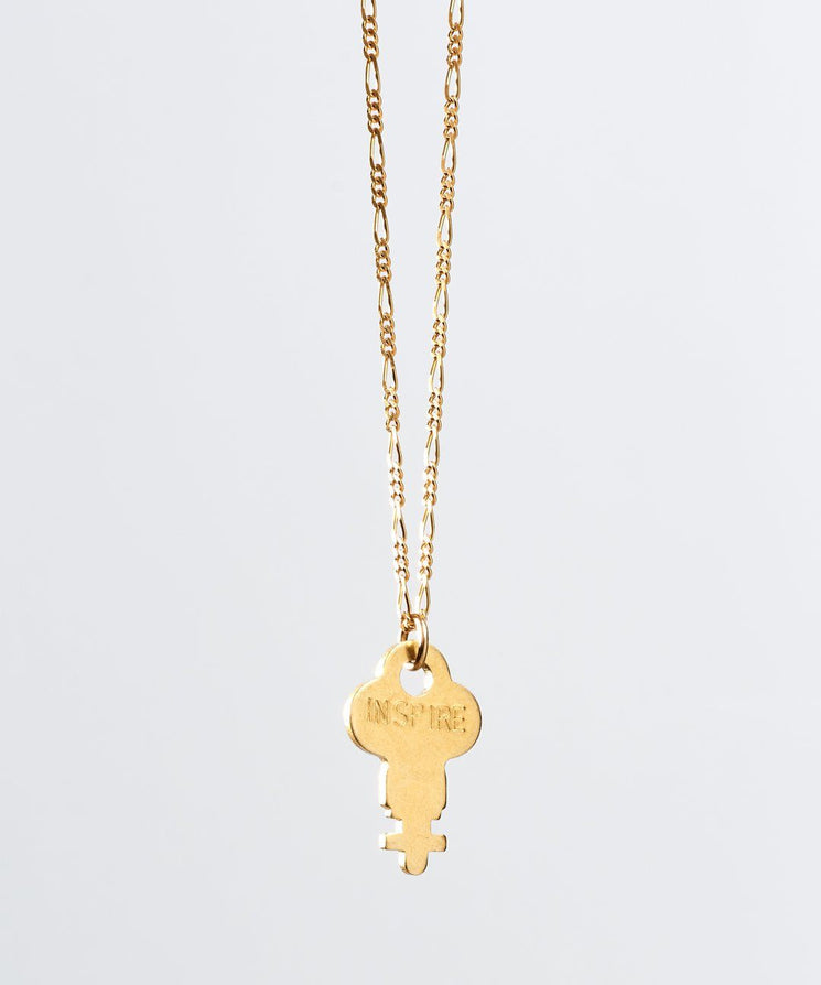 Florence Dainty Key Necklace Necklaces The Giving Keys INSPIRE Dainty Gold