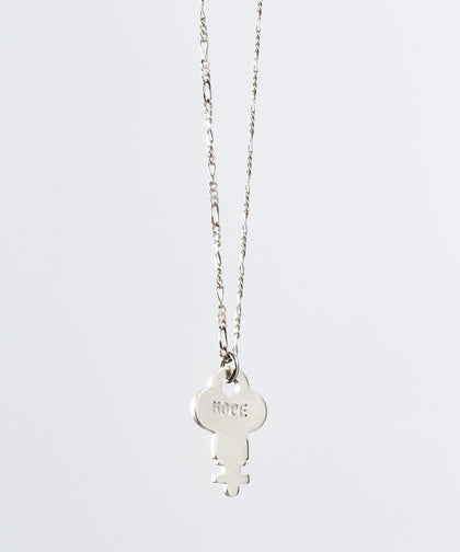 Florence Dainty Key Necklace Necklaces The Giving Keys HOPE Dainty Silver