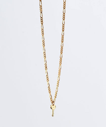 Florence Mini Key Necklace Necklaces The Giving Keys LOVE Gold