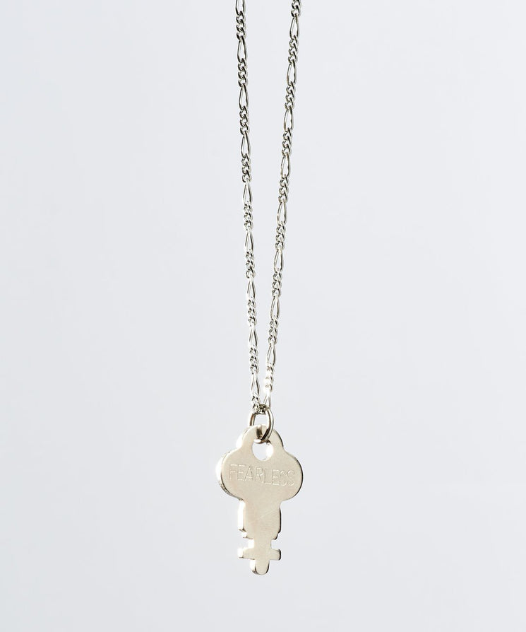 Florence Dainty Key Necklace Necklaces The Giving Keys FEARLESS Dainty Silver