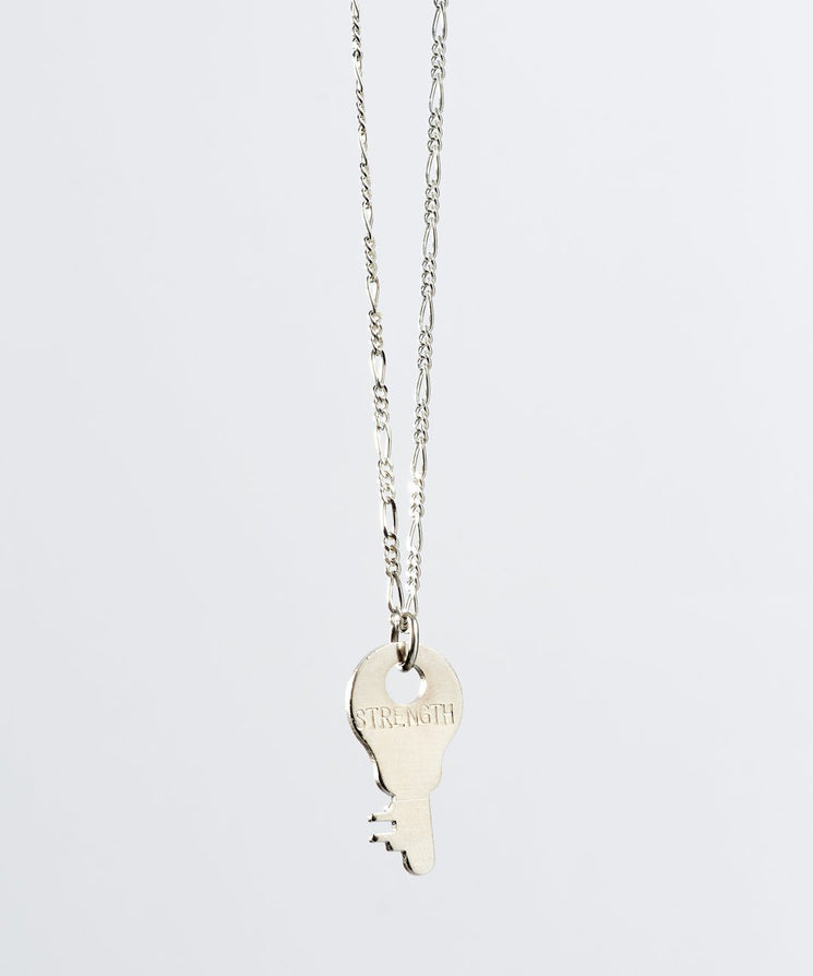 Florence Dainty Key Necklace Necklaces The Giving Keys STRENGTH Dainty Silver