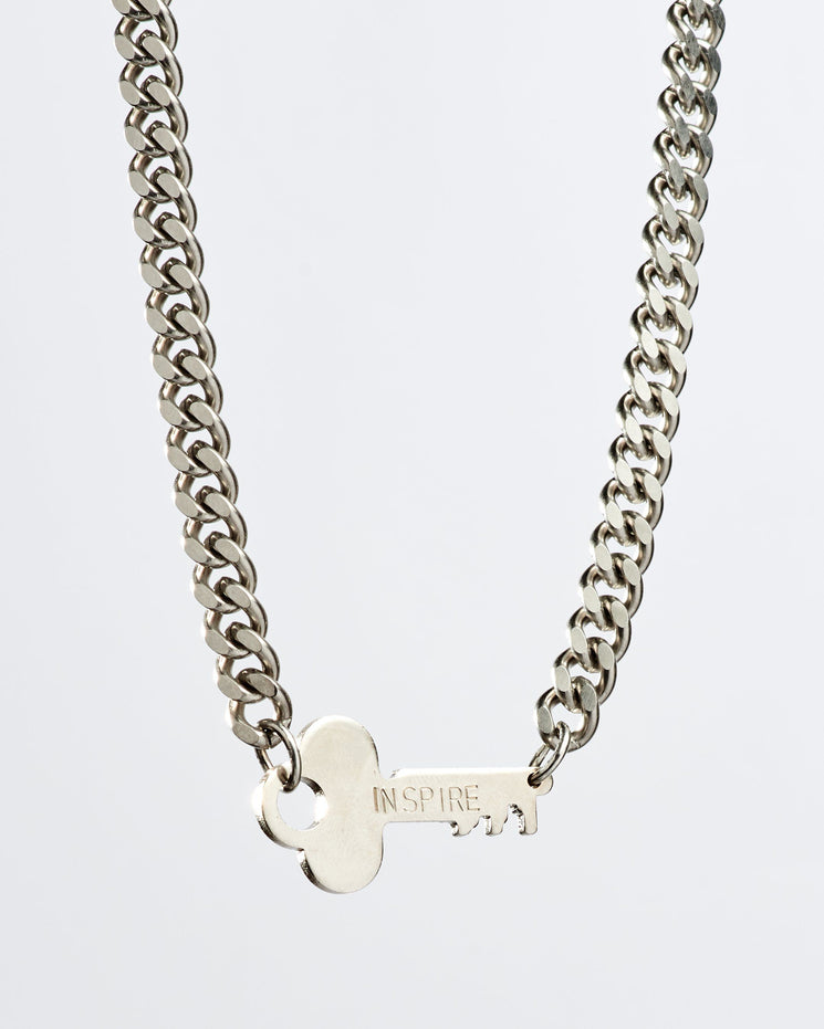 Rebel Never-Ending Key Choker Necklaces The Giving Keys INSPIRE Silver