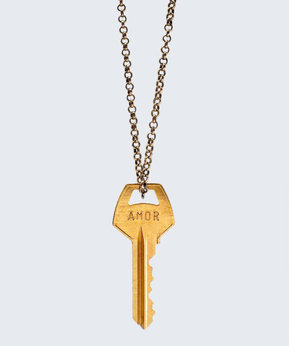 WORDAFUL Classic Key Necklace Necklaces The Giving Keys AMOR GOLD