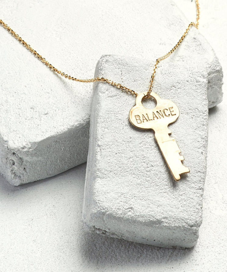 BALANCE Dainty Key Necklace The Giving Keys