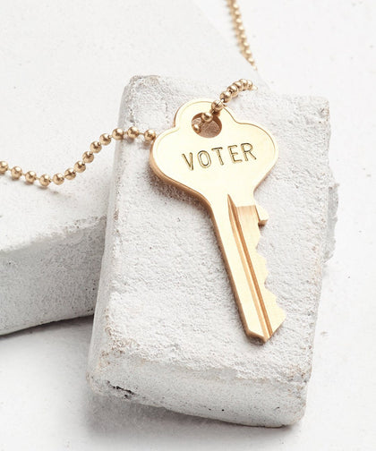 VOTE Classic Ball Chain Necklace Necklaces The Giving Keys Gold VOTER