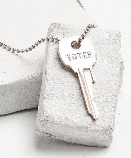 VOTE Classic Ball Chain Necklace Necklaces The Giving Keys Silver VOTER