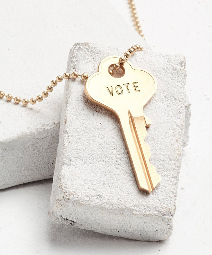 VOTE Classic Ball Chain Necklace Necklaces The Giving Keys Gold VOTE