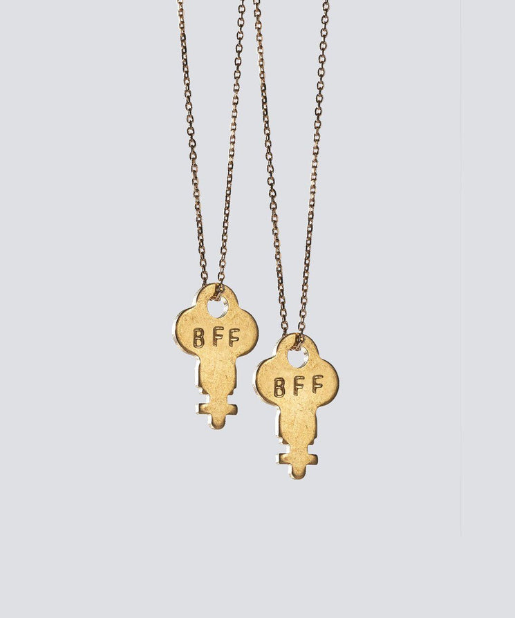 Best Friends Gold Dainty Key Necklace Set Necklaces The Giving Keys BFF GOLD
