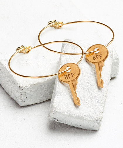 BFF Dainty Bangle Bracelet Set (2) Bracelets The Giving Keys GOLD BFF