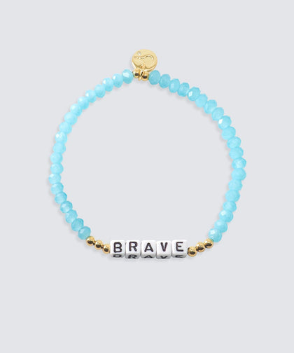 BRAVE Crystal Beaded Bracelet Bracelets The Giving Keys BRAVE