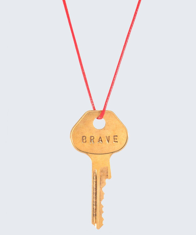 Red Strand Classic Key Necklace The Giving Keys CUSTOM GOLD