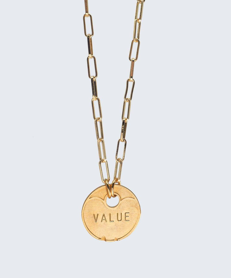 Lucky Coin Brooklyn Necklace Necklaces The Giving Keys GOLD VALUE