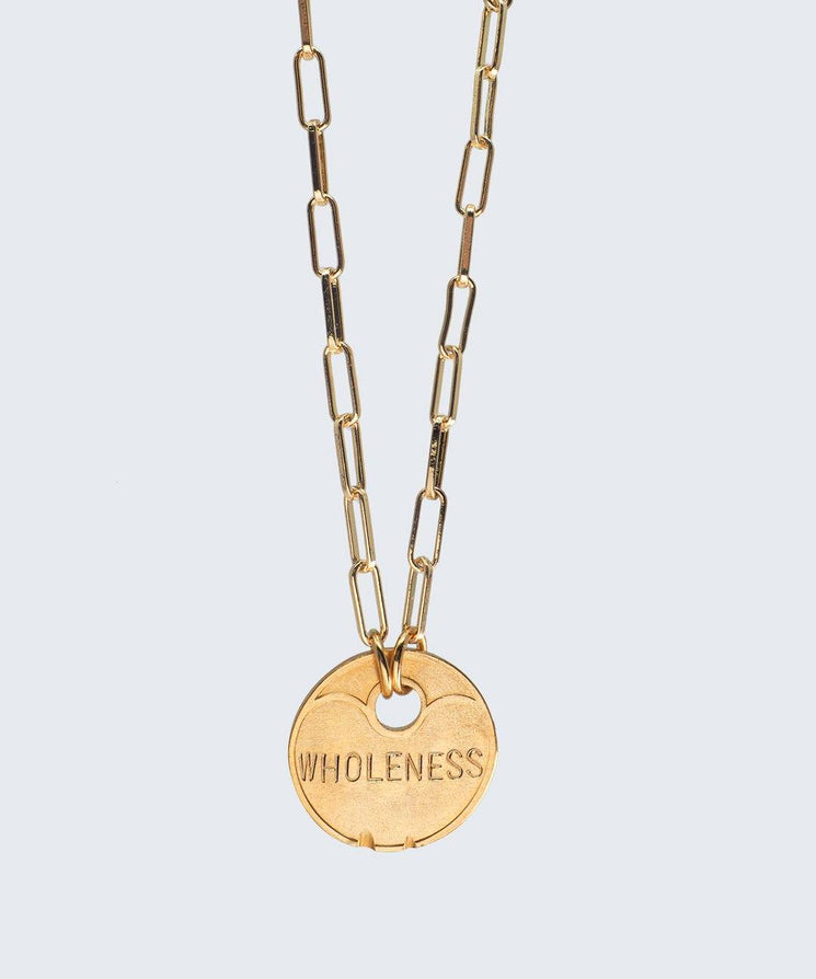 Lucky Coin Brooklyn Necklace Necklaces The Giving Keys GOLD WHOLENESS