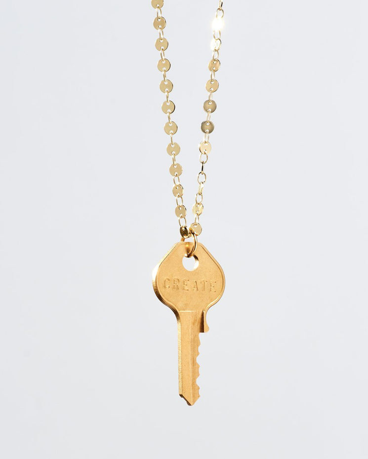 Barcelona Classic Key Necklace Necklaces The Giving Keys CREATE Gold