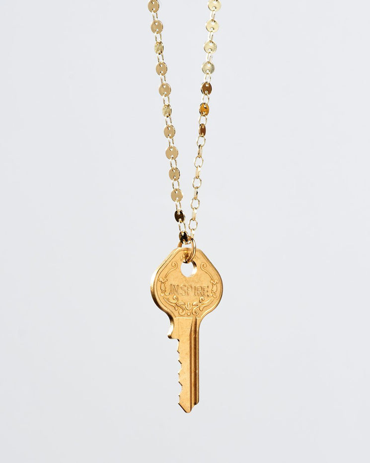 Barcelona Classic Key Necklace Necklaces The Giving Keys INSPIRE Gold