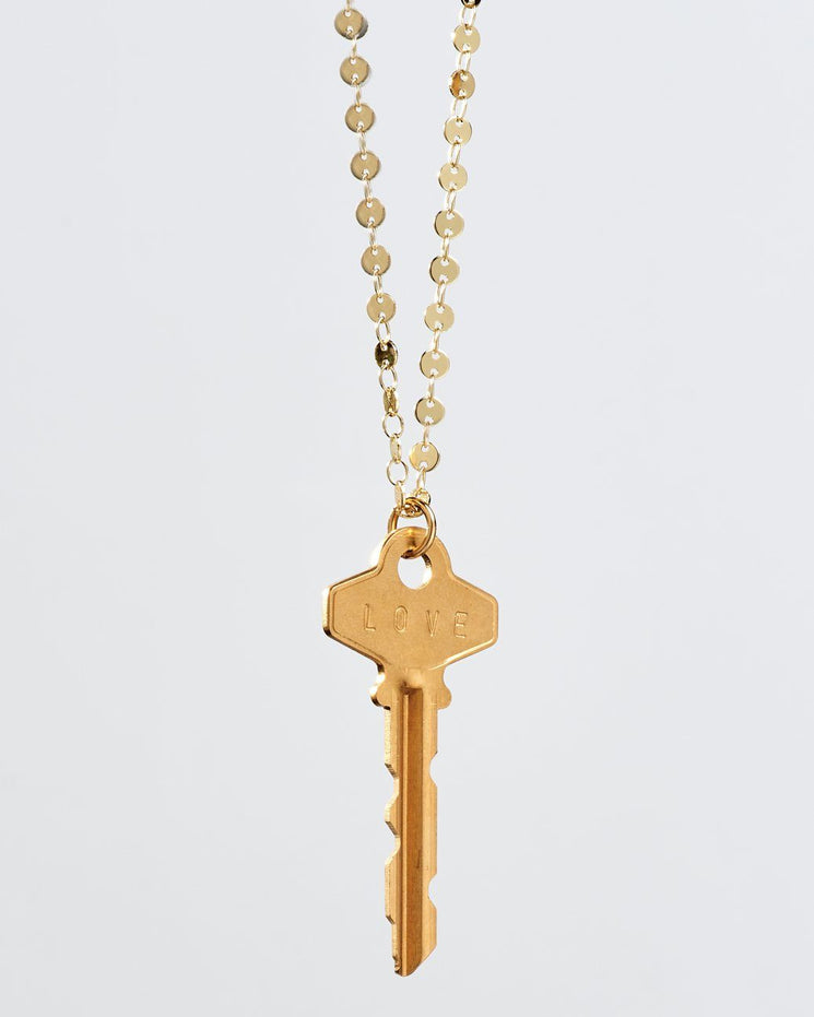 Barcelona Classic Key Necklace Necklaces The Giving Keys LOVE Gold