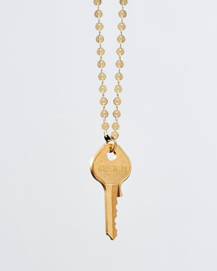 Barcelona Classic Key Necklace Necklaces The Giving Keys STRENGTH Gold