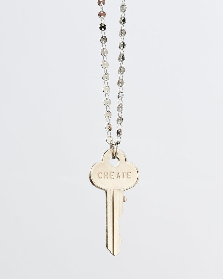 Barcelona Classic Key Necklace Necklaces The Giving Keys CREATE Silver