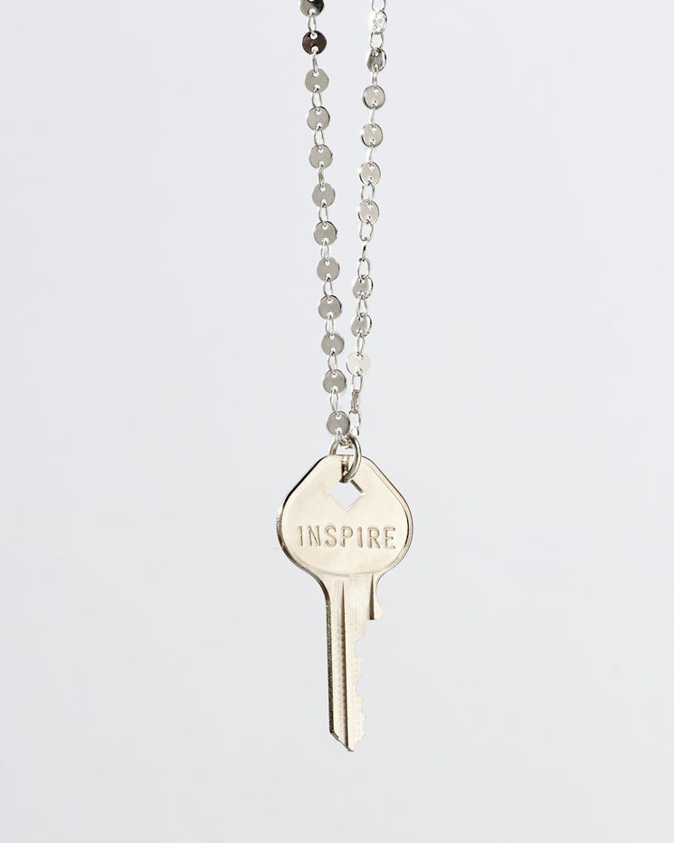 Barcelona Classic Key Necklace Necklaces The Giving Keys INSPIRE Silver