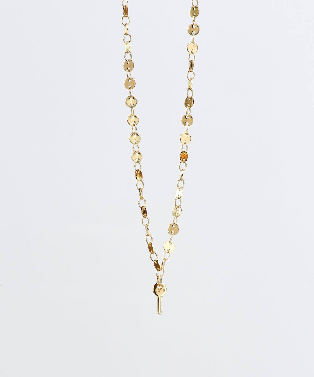 Barcelona Mini Key Necklace Necklaces The Giving Keys LOVE Gold