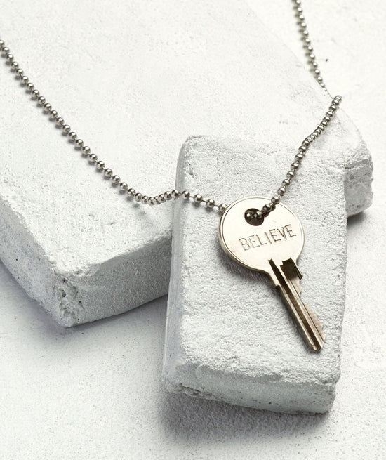 Silver Classic Key Necklace Necklaces The Giving Keys