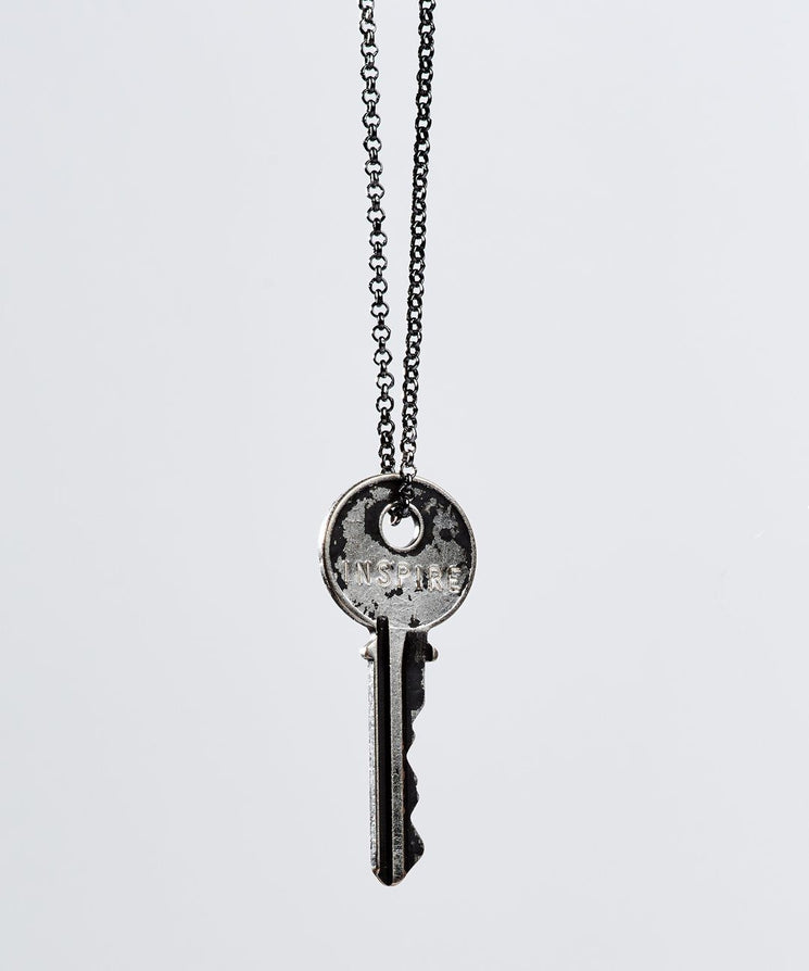 Patina Classic Key Necklace in Black