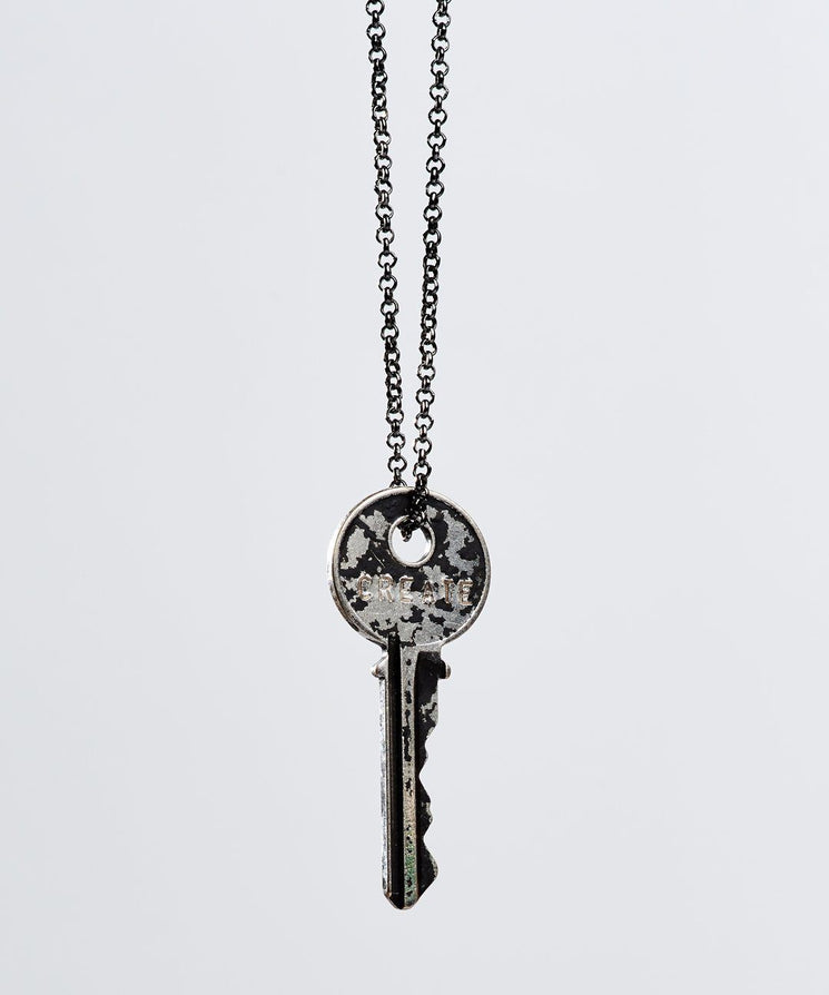 Patina Classic Key Necklace in Black Necklaces The Giving Keys Create BLACK