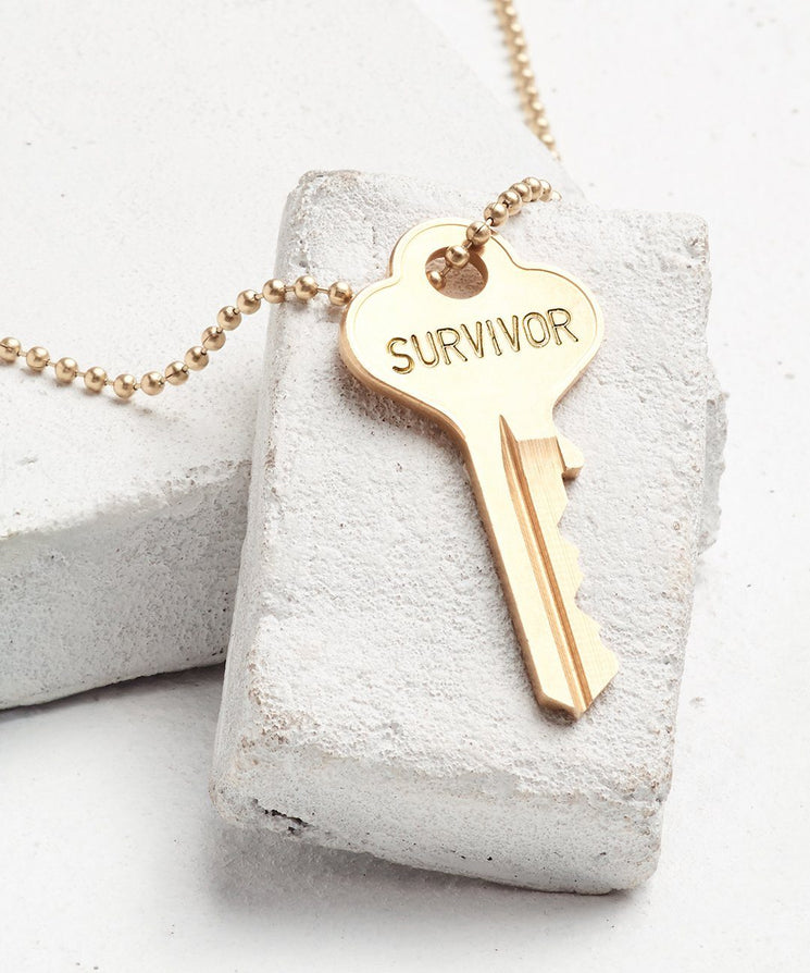 SURVIVOR Classic Ball Chain Necklace The Giving Keys SURVIVOR GOLD