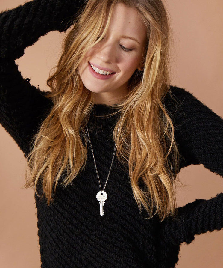 Dare To Be Brave Classic Key Necklace Necklaces The Giving Keys | Lifestyle