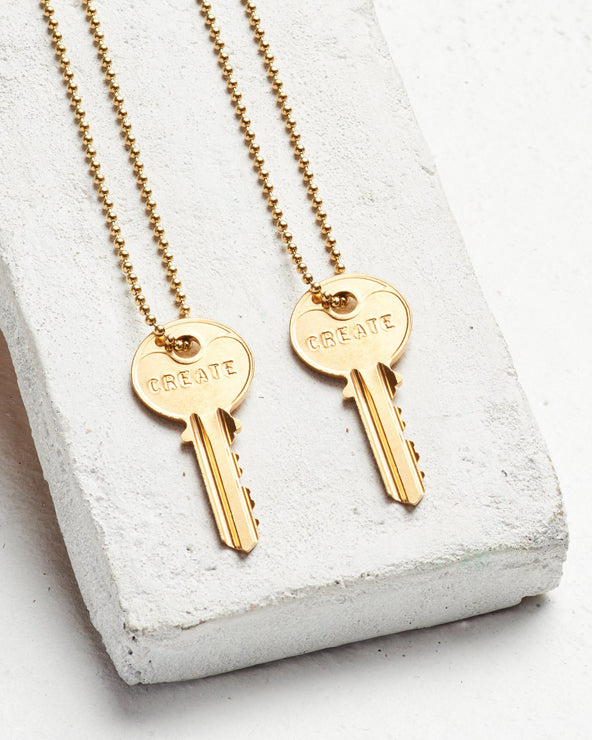#BlackoutHomelessness Gold Ball Chain Key Necklace Set
