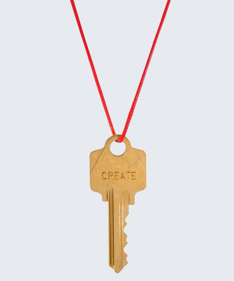 Red Strand Classic Key Necklace The Giving Keys CREATE GOLD