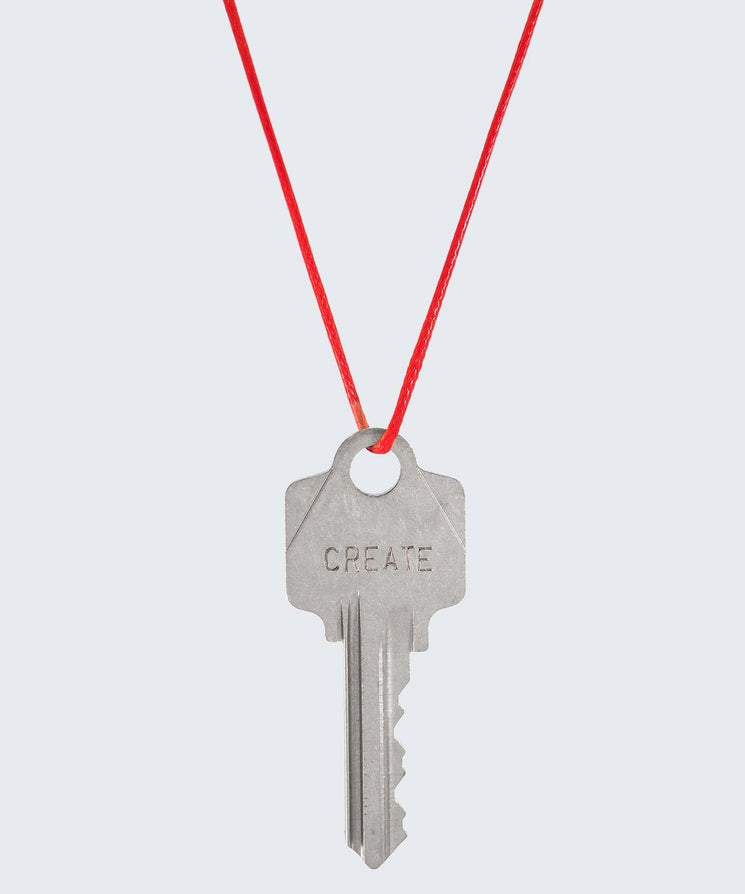 Red Strand Classic Key Necklace The Giving Keys CREATE SILVER