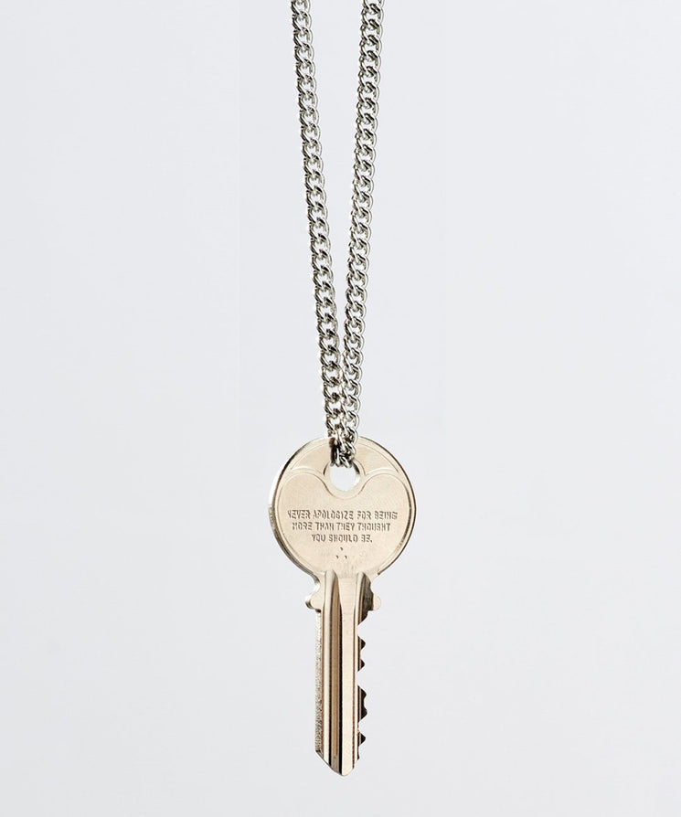 Wilder Poetry Classic Necklace Necklaces The Giving Keys NEVER APOLOGIZE SILVER