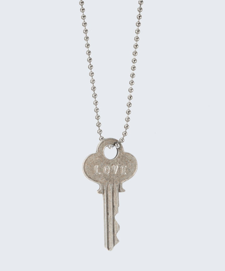 Vintage Classic Key Necklace Necklaces The Giving Keys LOVE SILVER