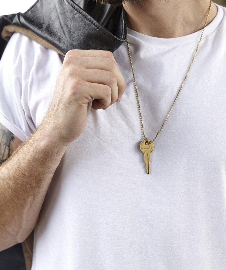 Silver Ball Chain Key Necklace Necklaces The Giving Keys | Lifestyle