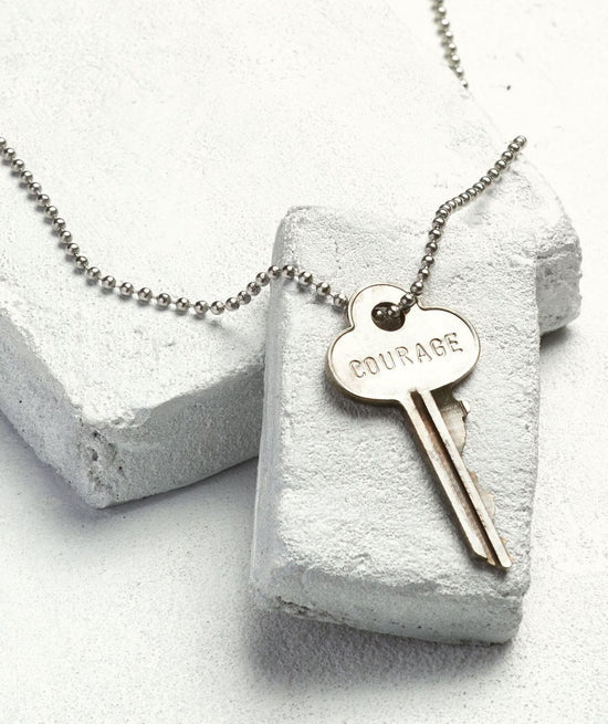 Silver Ball Chain Key Necklace Necklaces The Giving Keys