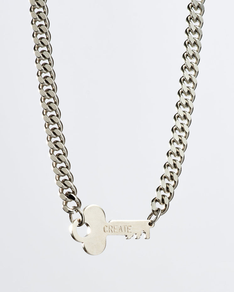 Rebel Never-Ending Key Choker Necklaces The Giving Keys CREATE Silver