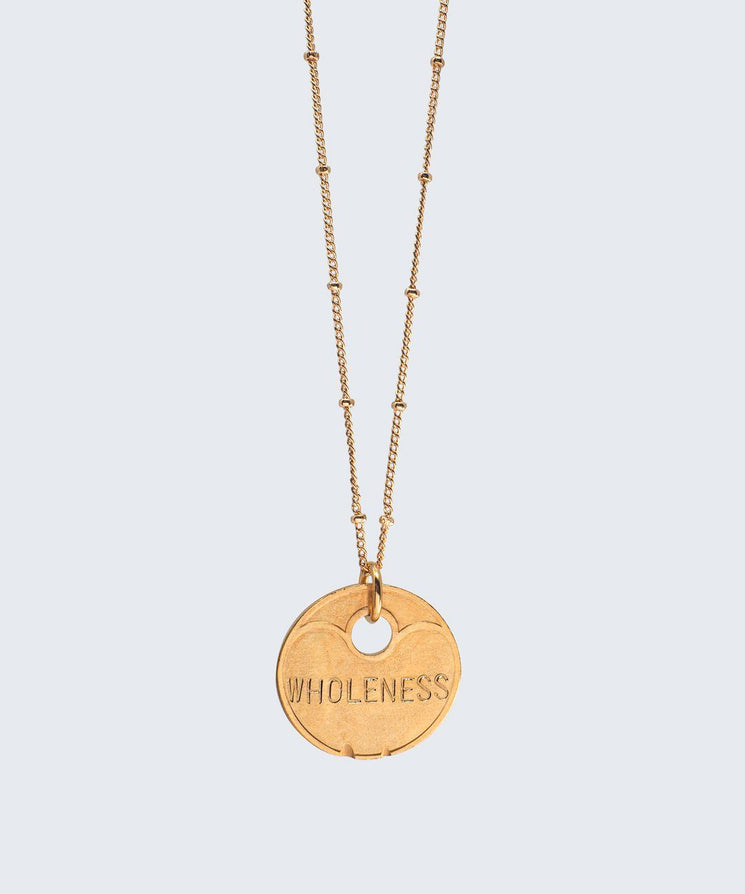 Lucky Coin Beaded Necklace Necklaces The Giving Keys GOLD PRICELESS