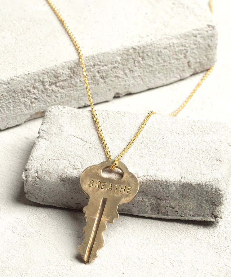 BREATHE Dainty Necklace Necklaces The Giving Keys BREATHE Gold