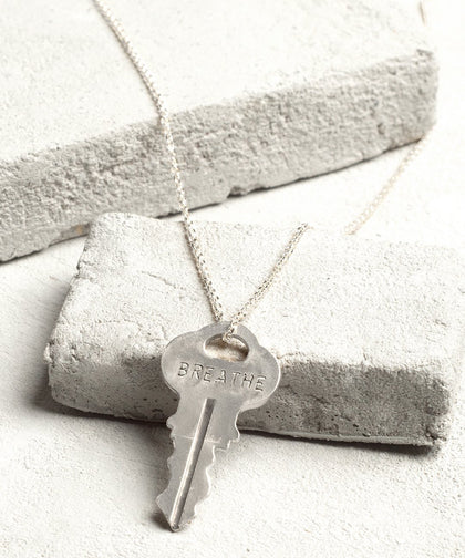 BREATHE Dainty Necklace Necklaces The Giving Keys BREATHE Silver