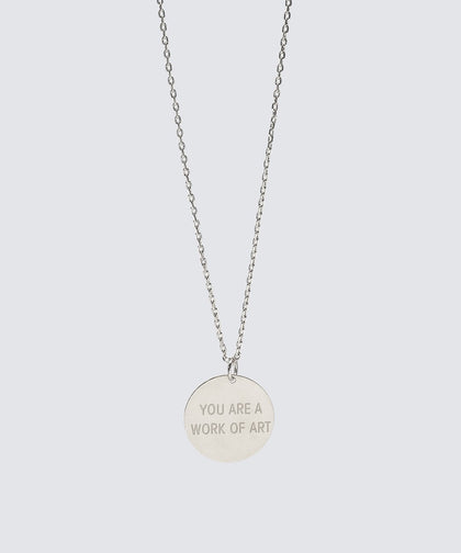 YOU ARE A WORK OF ART Disc Necklace Necklaces The Giving Keys YOU ARE A WORK OF ART SILVER